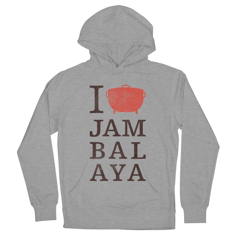 I Love Jambalaya Men's French Terry Pullover Hoody by Krist Norsworthy Art & Design