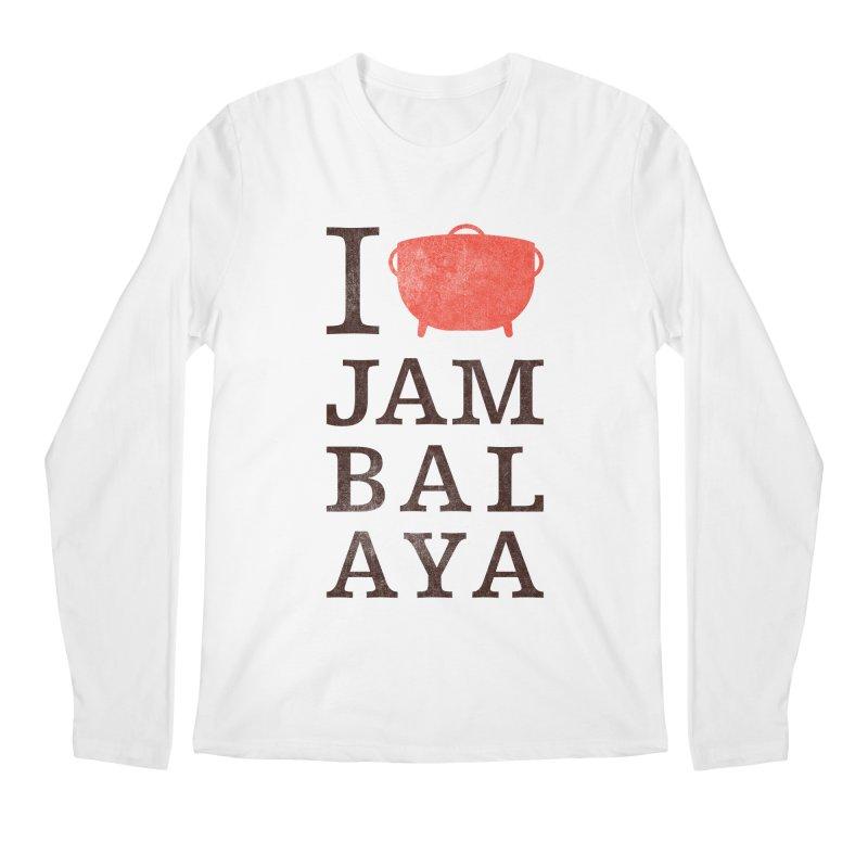 I Love Jambalaya Men's Regular Longsleeve T-Shirt by Krist Norsworthy Art & Design