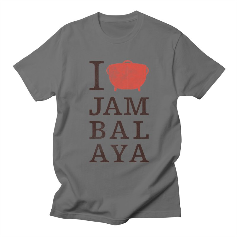 I Love Jambalaya Men's T-Shirt by Krist Norsworthy Art & Design