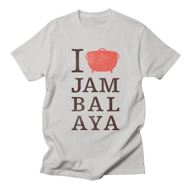 I Love Jambalaya Women's Regular Unisex T-Shirt by Krist Norsworthy Art & Design