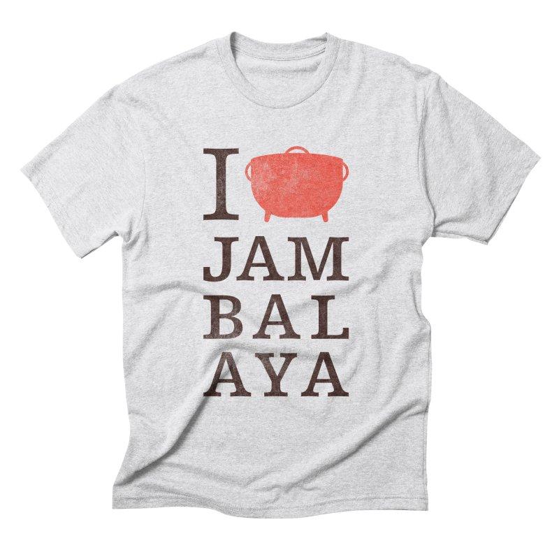 I Love Jambalaya Men's Triblend T-Shirt by Krist Norsworthy Art & Design