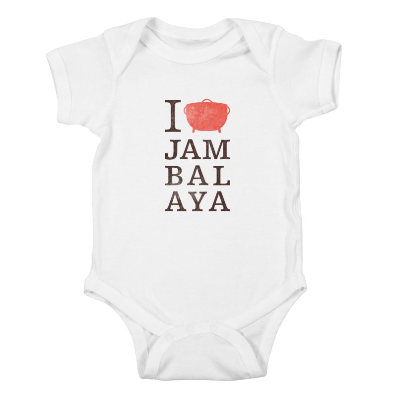 I Love Jambalaya Kids Baby Bodysuit by Krist Norsworthy Art & Design