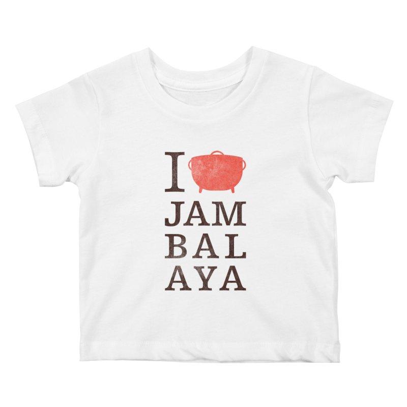 I Love Jambalaya Kids Baby T-Shirt by Krist Norsworthy Art & Design