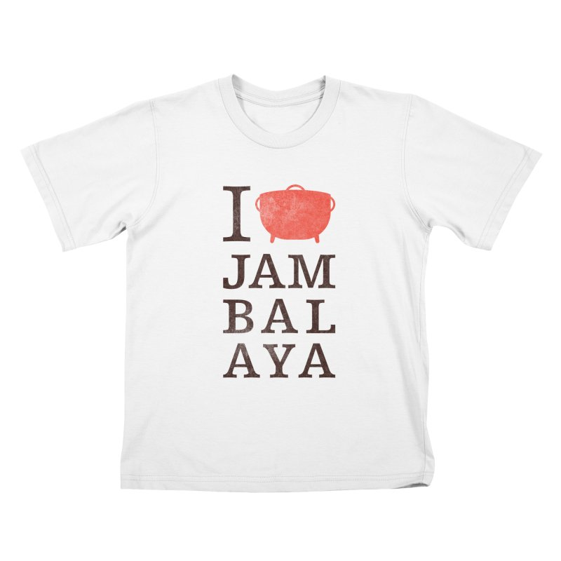 I Love Jambalaya Kids T-Shirt by Krist Norsworthy Art & Design