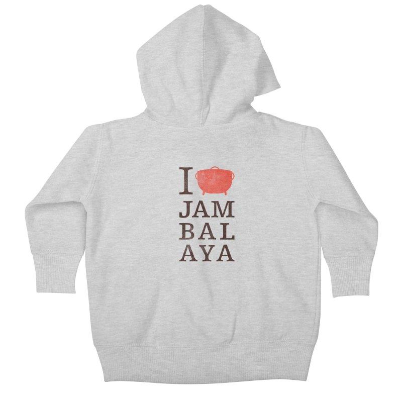 I Love Jambalaya Kids Baby Zip-Up Hoody by Krist Norsworthy Art & Design