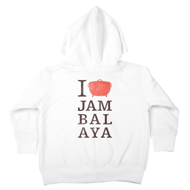 I Love Jambalaya Kids Toddler Zip-Up Hoody by Krist Norsworthy Art & Design
