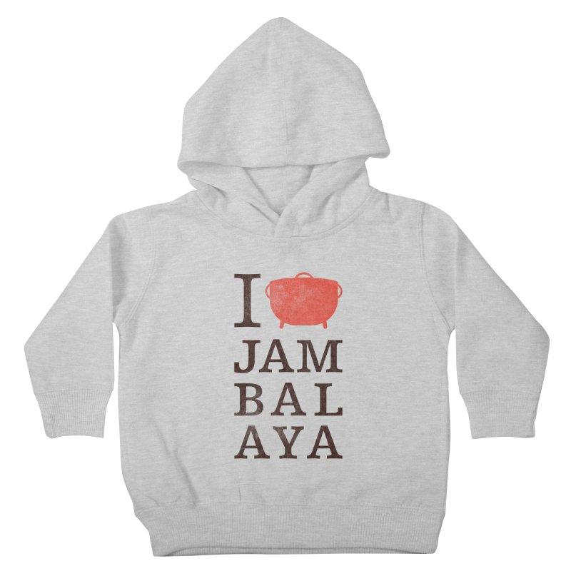 I Love Jambalaya Kids Toddler Pullover Hoody by Krist Norsworthy Art & Design