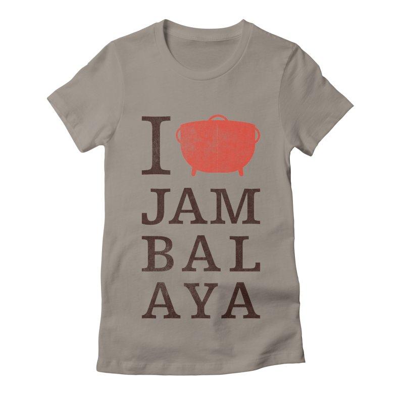 I Love Jambalaya Women's Fitted T-Shirt by Krist Norsworthy Art & Design