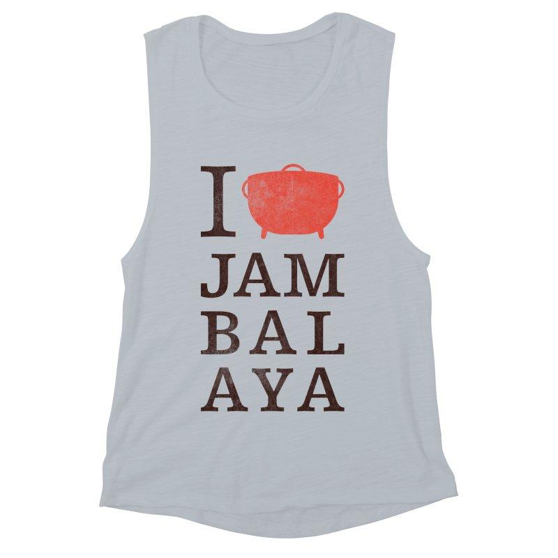 I Love Jambalaya Women's Muscle Tank by Krist Norsworthy Art & Design