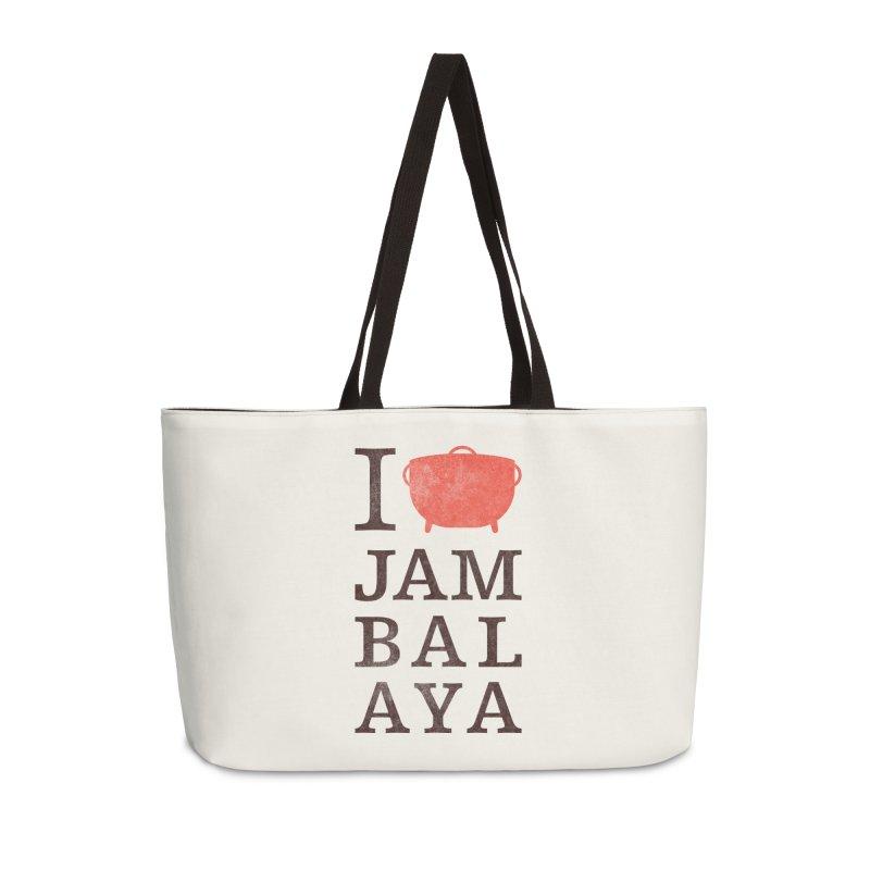 I Love Jambalaya Accessories Weekender Bag Bag by Krist Norsworthy Art & Design