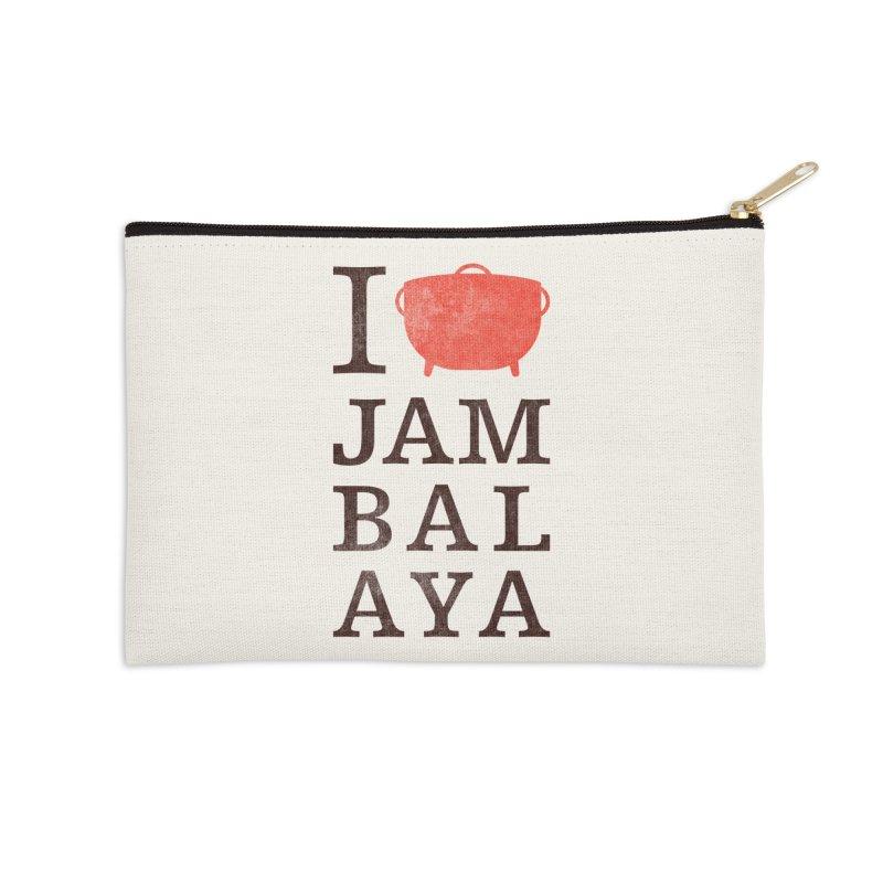I Love Jambalaya Accessories Zip Pouch by Krist Norsworthy Art & Design
