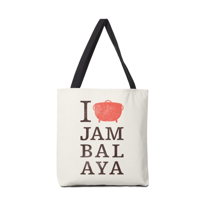 I Love Jambalaya Accessories Tote Bag Bag by Krist Norsworthy Art & Design