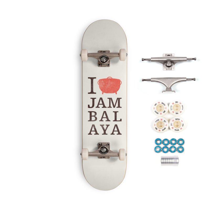 I Love Jambalaya Accessories Complete - Premium Skateboard by Krist Norsworthy Art & Design
