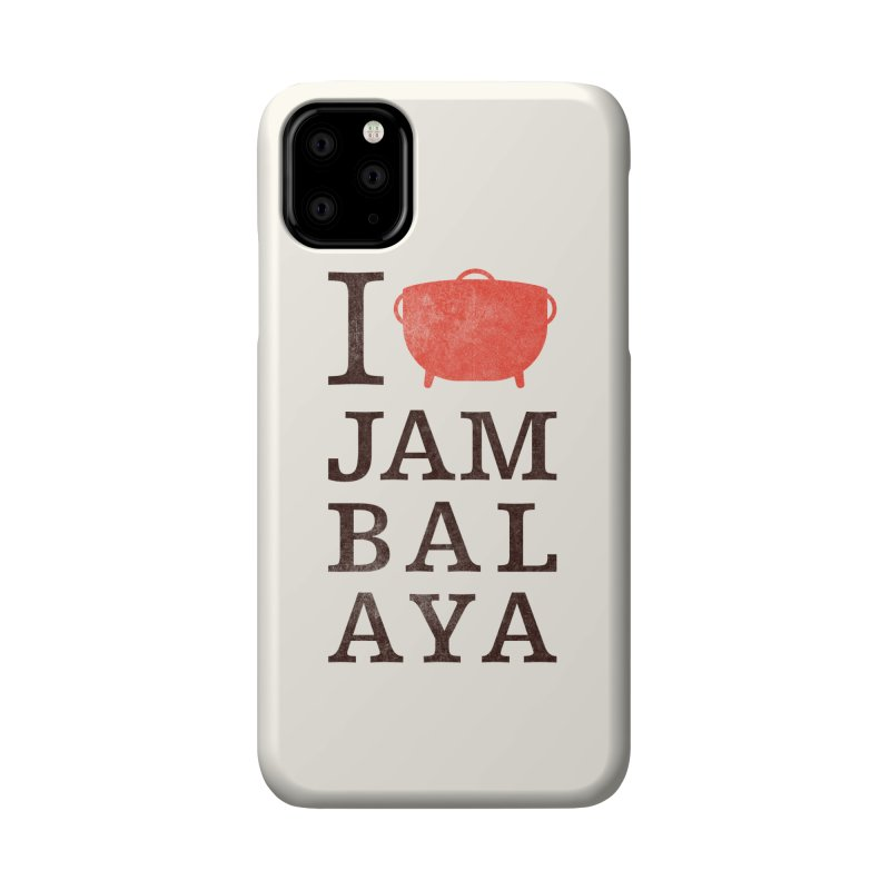 I Love Jambalaya Accessories Phone Case by Krist Norsworthy Art & Design