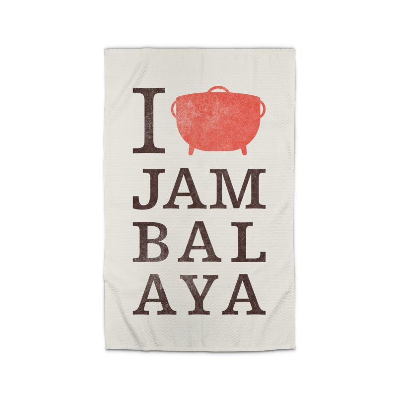 I Love Jambalaya Home Rug by Krist Norsworthy Art & Design