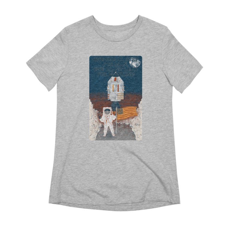 One Small Step Women's Extra Soft T-Shirt by Krist Norsworthy Art & Design