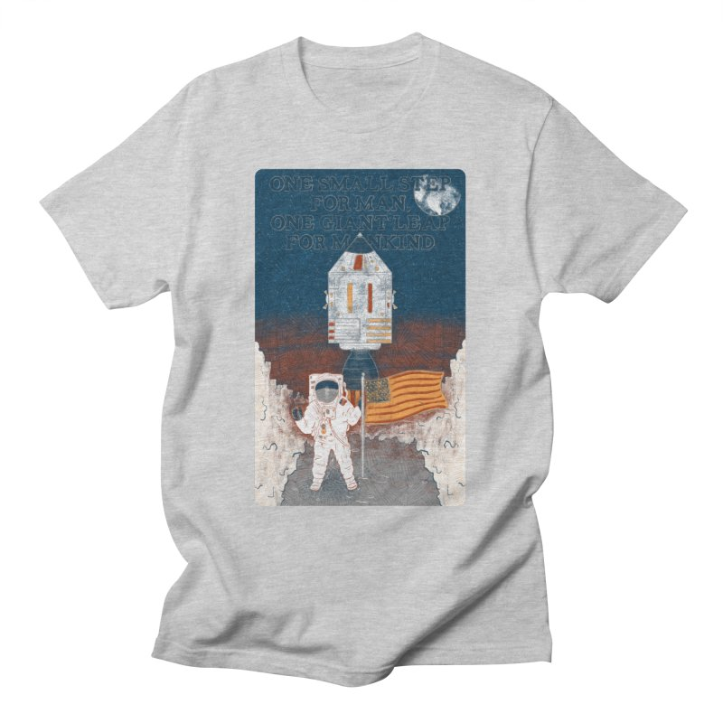 One Small Step Men's T-Shirt by Krist Norsworthy Art & Design