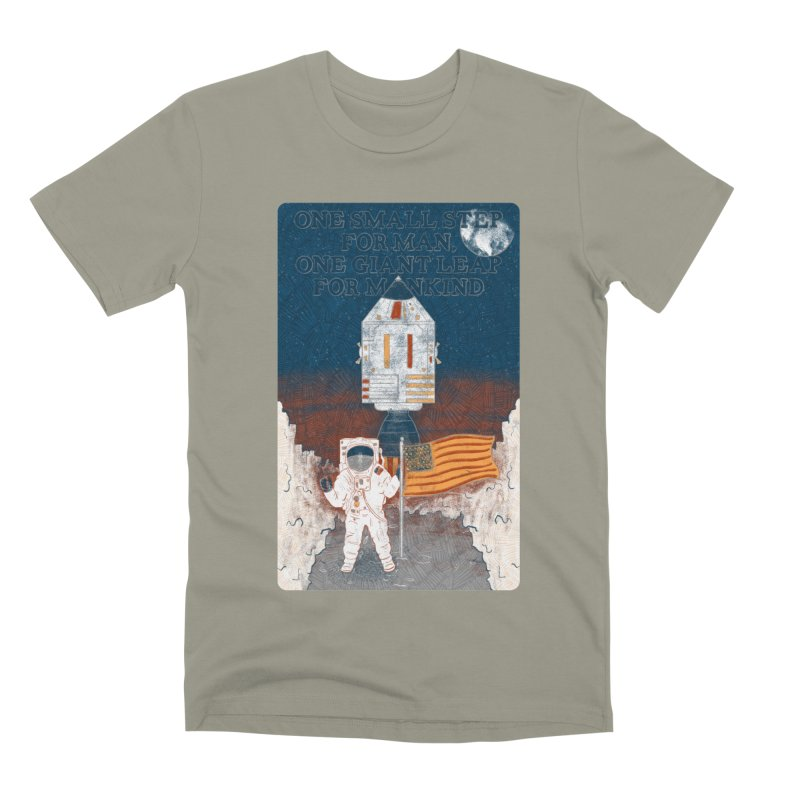 One Small Step Men's Premium T-Shirt by Krist Norsworthy Art & Design