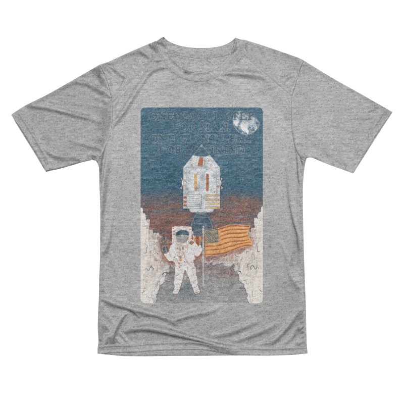 One Small Step Men's Performance T-Shirt by Krist Norsworthy Art & Design