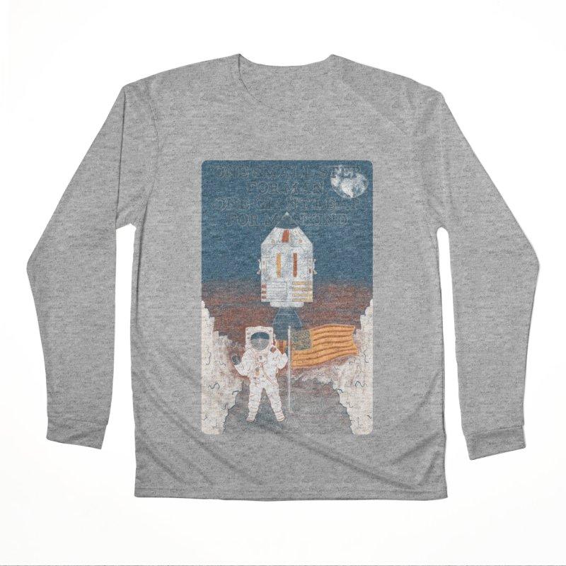 One Small Step Men's Performance Longsleeve T-Shirt by Krist Norsworthy Art & Design