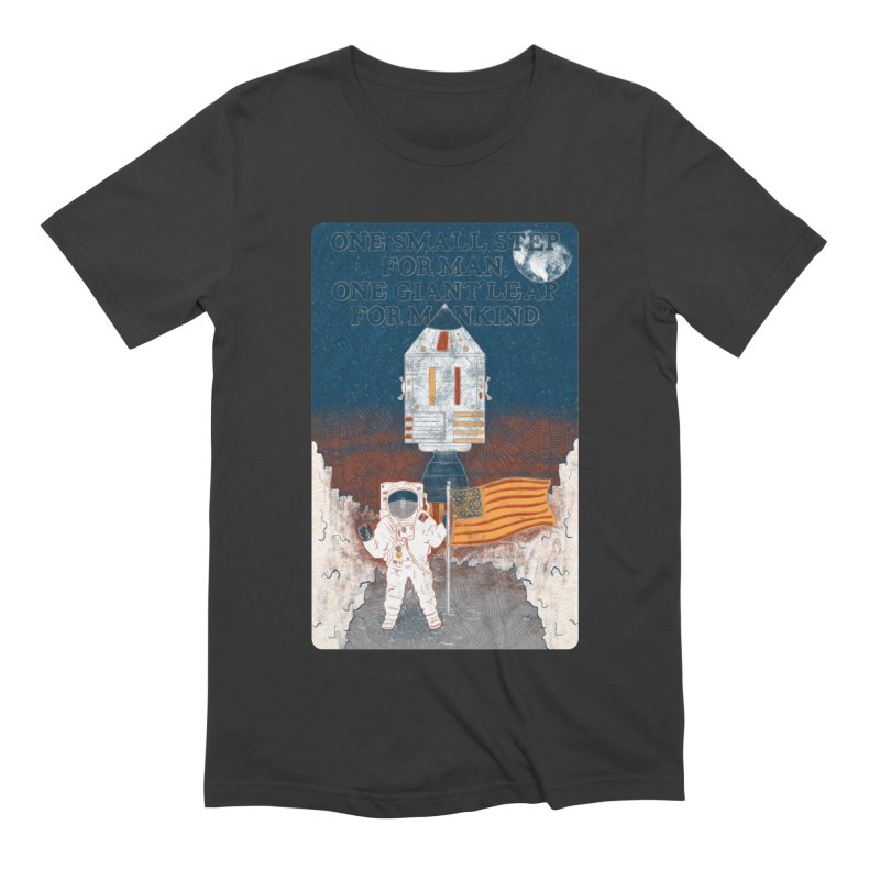 One Small Step Men's Extra Soft T-Shirt by Krist Norsworthy Art & Design