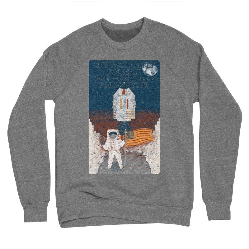 One Small Step Men's Sponge Fleece Sweatshirt by Krist Norsworthy Art & Design
