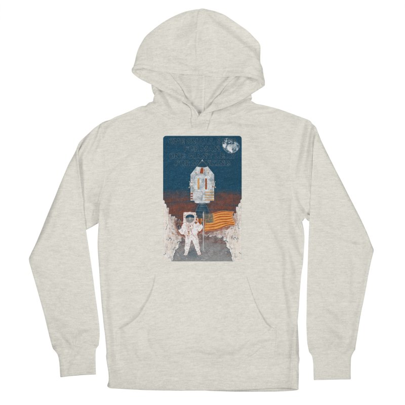 One Small Step Men's Pullover Hoody by Krist Norsworthy Art & Design