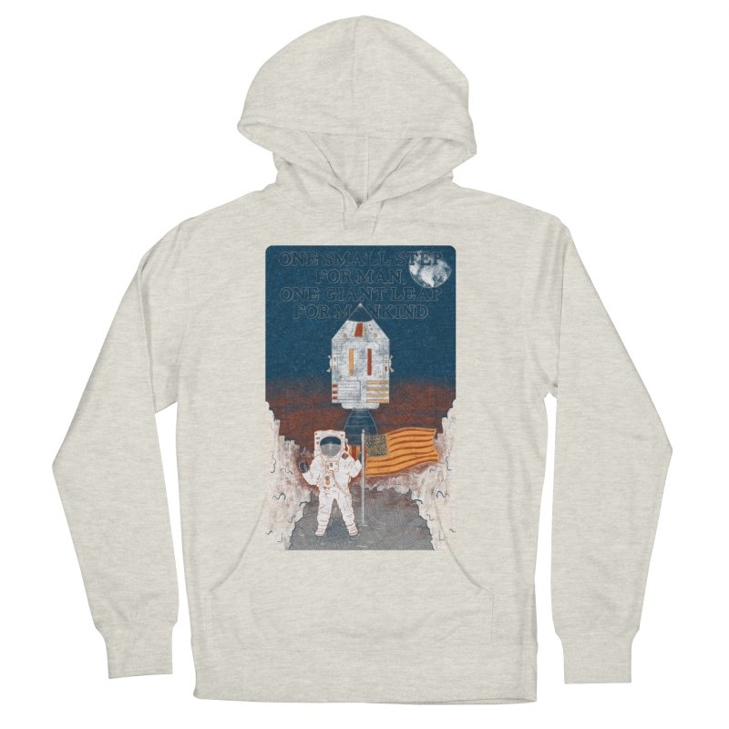 One Small Step Women's French Terry Pullover Hoody by Krist Norsworthy Art & Design