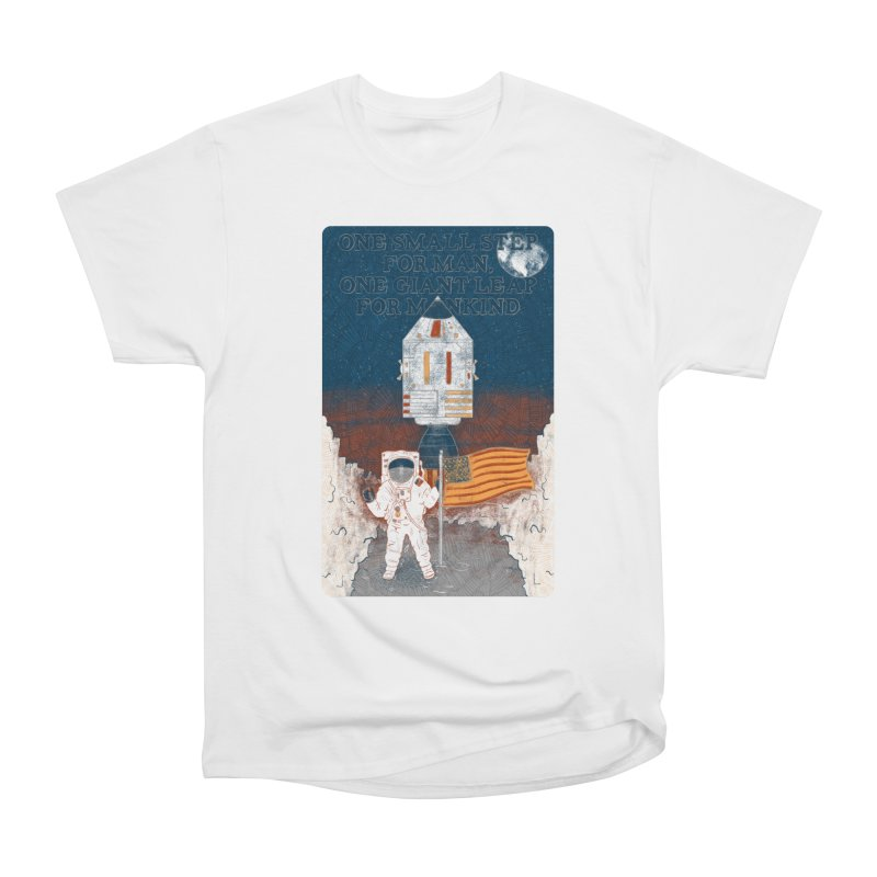 One Small Step Women's Heavyweight Unisex T-Shirt by Krist Norsworthy Art & Design