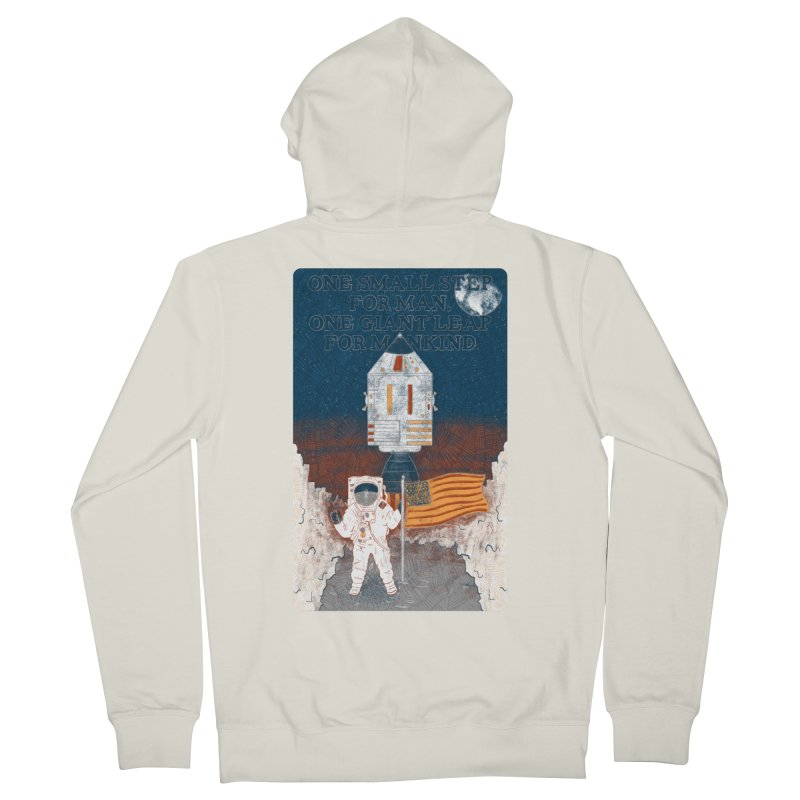 One Small Step Women's French Terry Zip-Up Hoody by Krist Norsworthy Art & Design