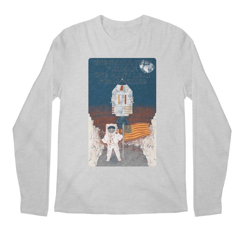 One Small Step Men's Regular Longsleeve T-Shirt by Krist Norsworthy Art & Design