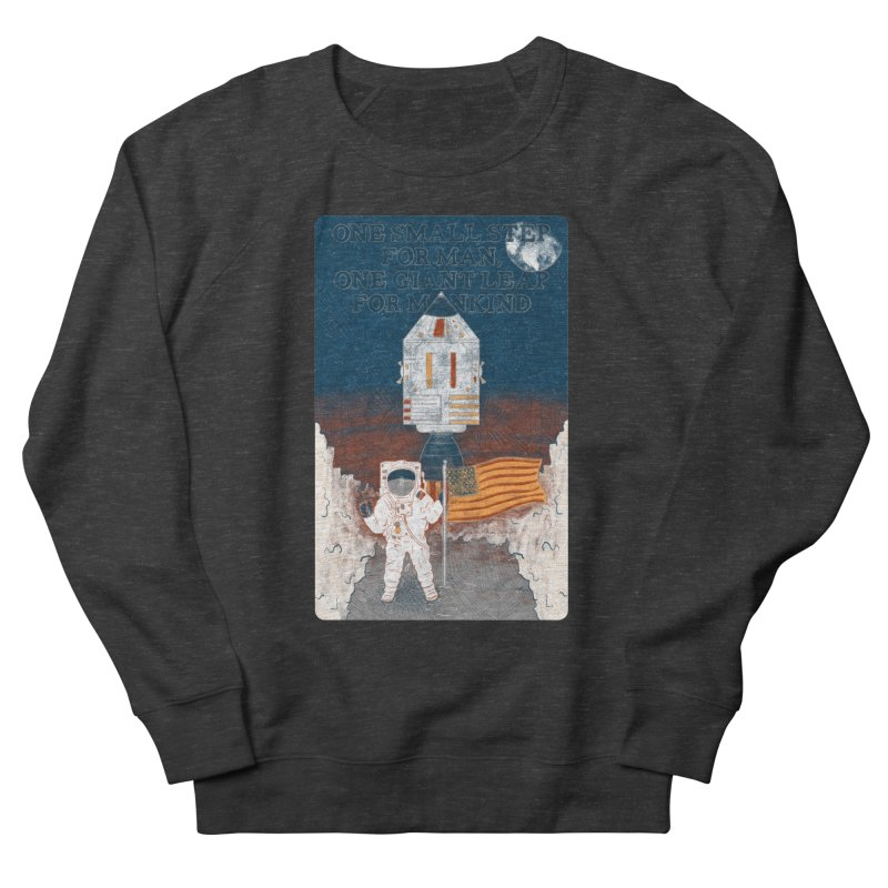 One Small Step Women's French Terry Sweatshirt by Krist Norsworthy Art & Design