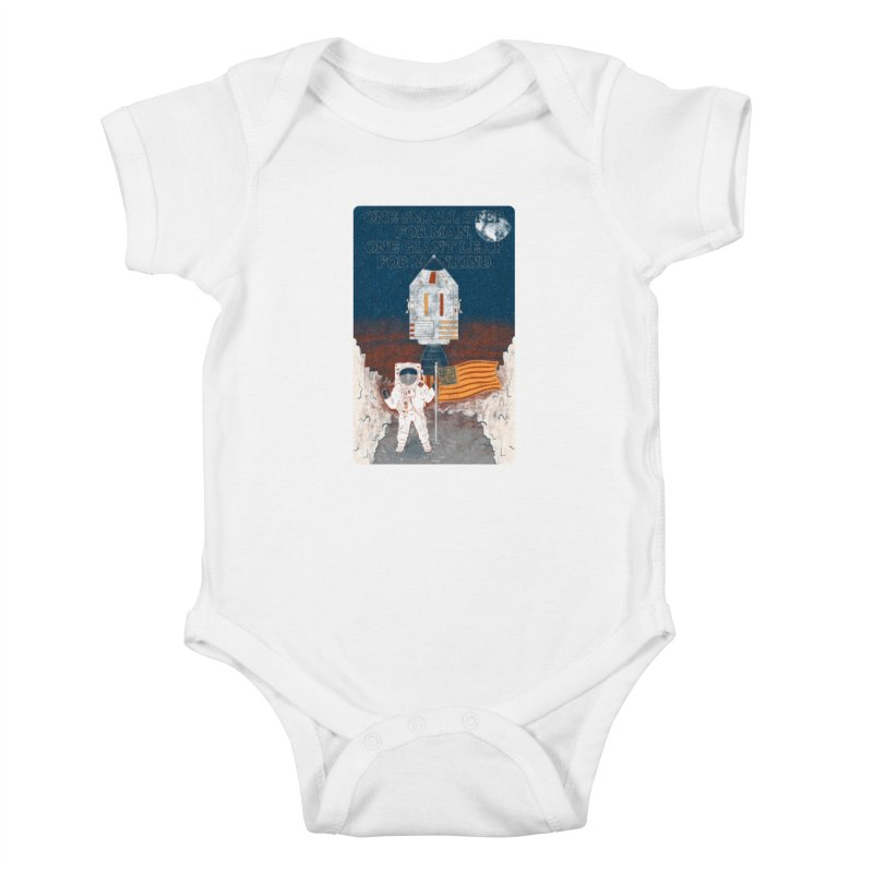 One Small Step Kids Baby Bodysuit by Krist Norsworthy Art & Design