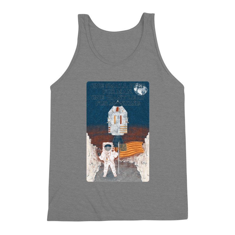 One Small Step Men's Tank by Krist Norsworthy Art & Design