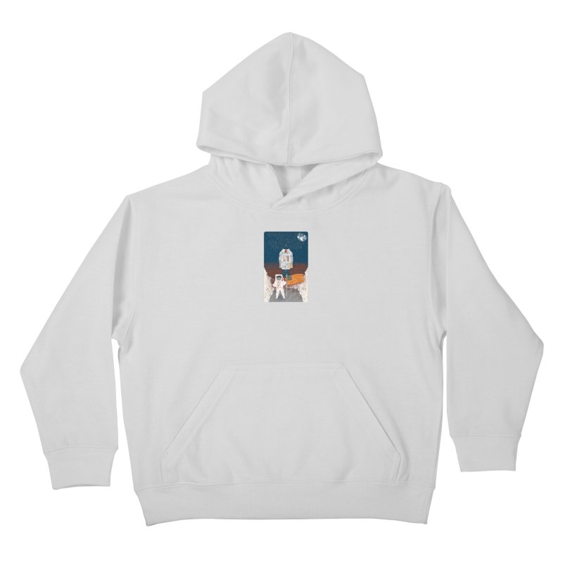 One Small Step Kids Pullover Hoody by Krist Norsworthy Art & Design