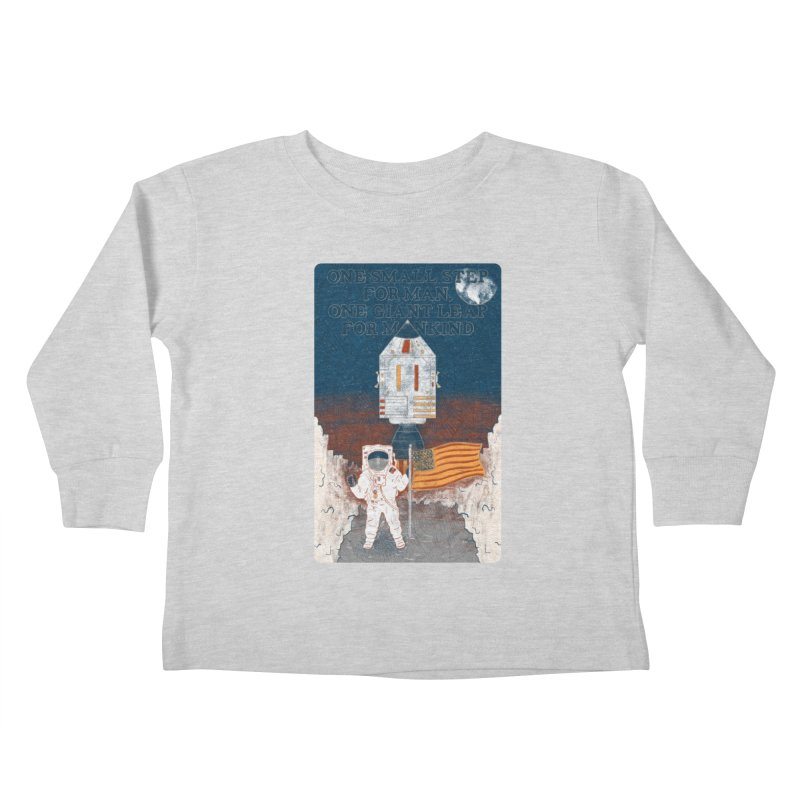 One Small Step Kids Toddler Longsleeve T-Shirt by Krist Norsworthy Art & Design