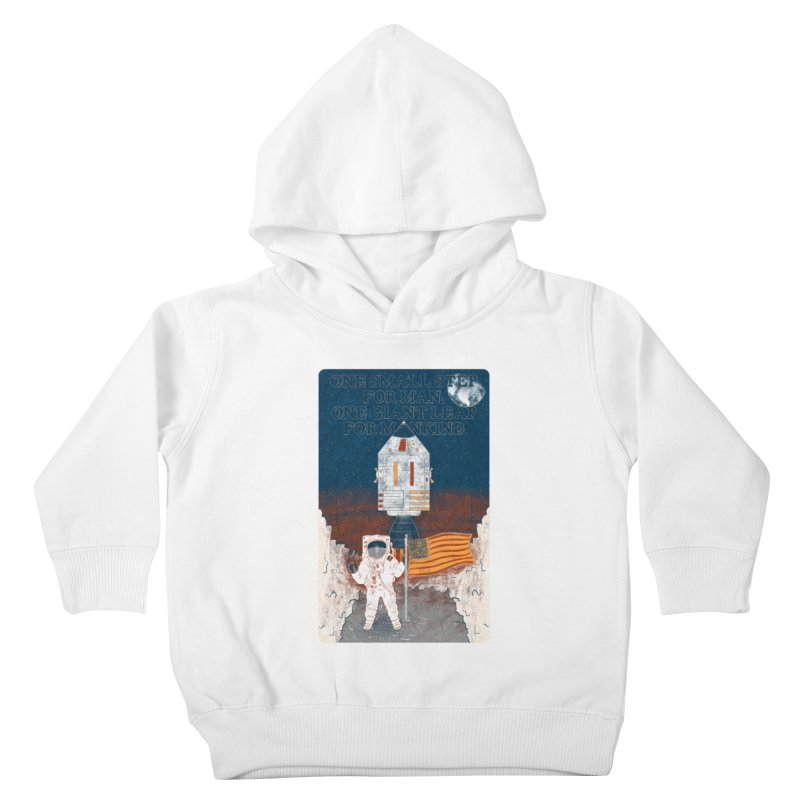 One Small Step Kids Toddler Pullover Hoody by Krist Norsworthy Art & Design