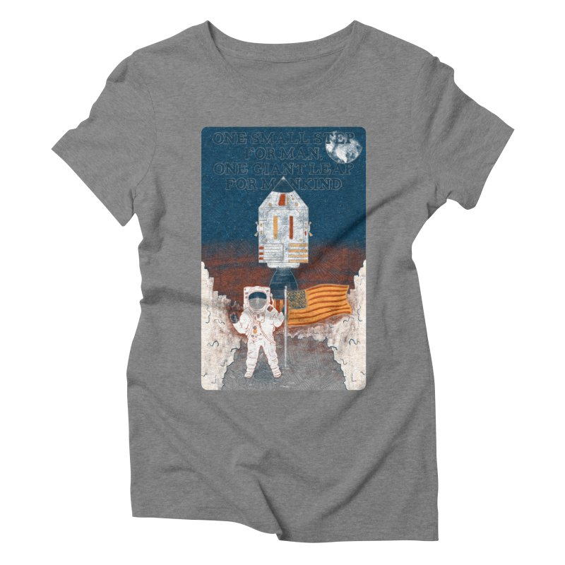 One Small Step Women's Triblend T-Shirt by Krist Norsworthy Art & Design