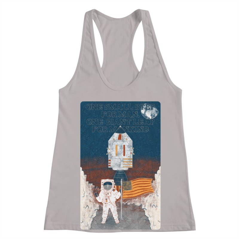 One Small Step Women's Racerback Tank by Krist Norsworthy Art & Design