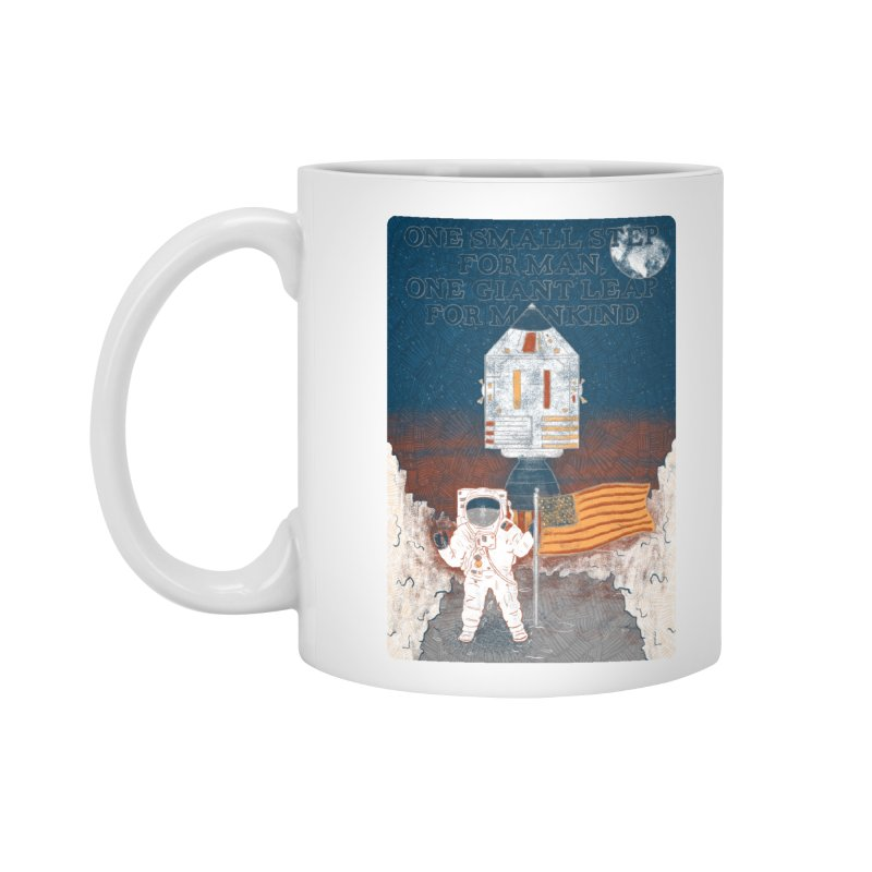 One Small Step Accessories Standard Mug by Krist Norsworthy Art & Design