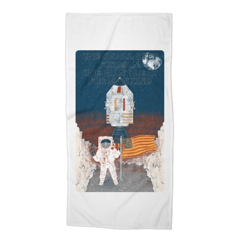 One Small Step Accessories Beach Towel by Krist Norsworthy Art & Design