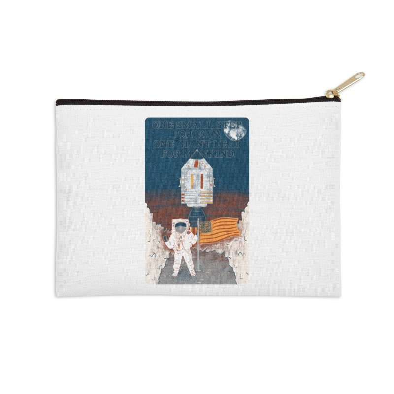 One Small Step Accessories Zip Pouch by Krist Norsworthy Art & Design