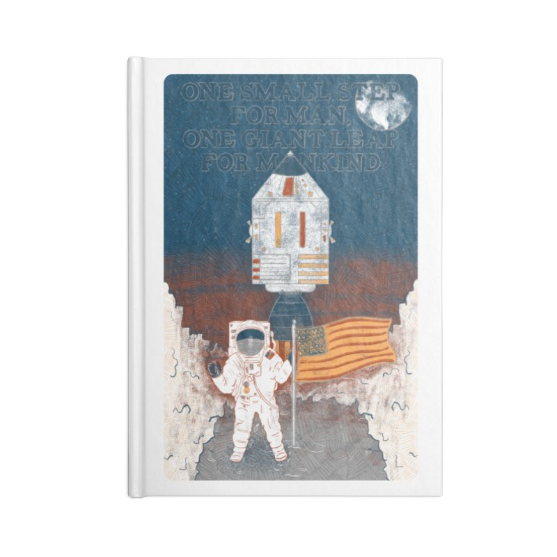 One Small Step Accessories Blank Journal Notebook by Krist Norsworthy Art & Design