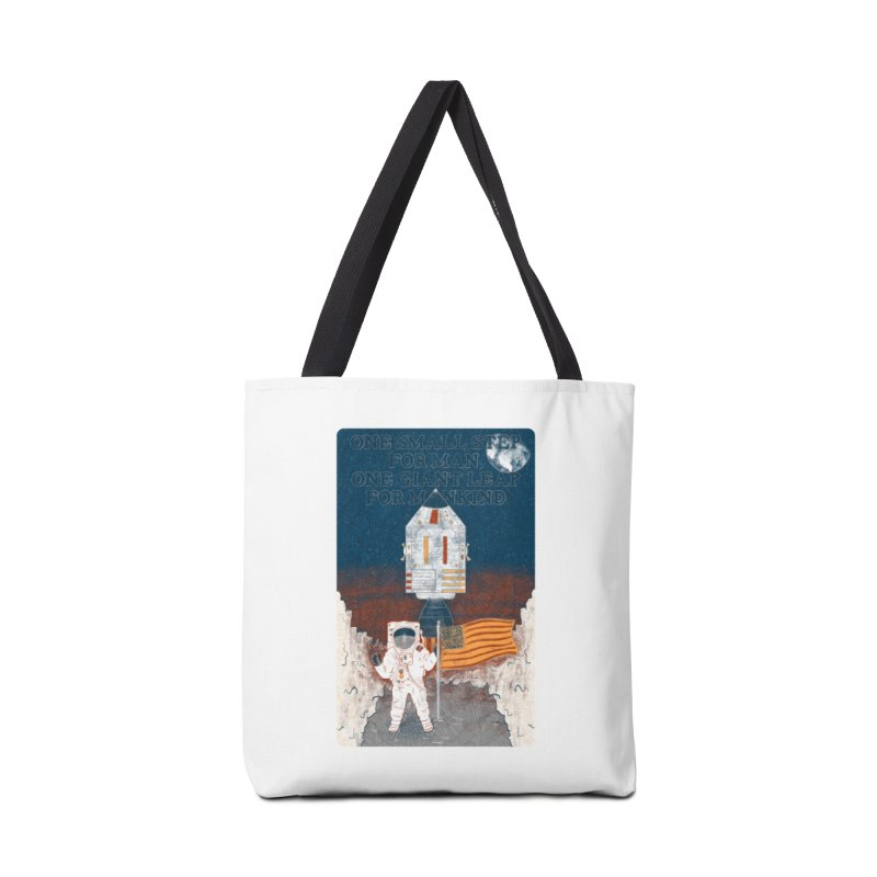 One Small Step Accessories Tote Bag Bag by Krist Norsworthy Art & Design