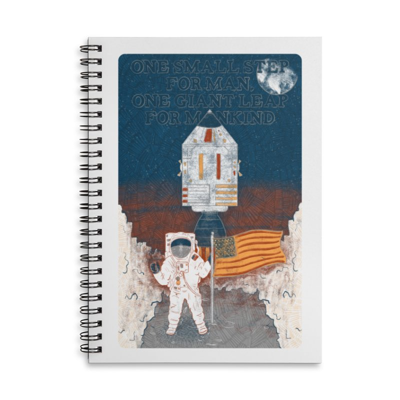 One Small Step Accessories Lined Spiral Notebook by Krist Norsworthy Art & Design