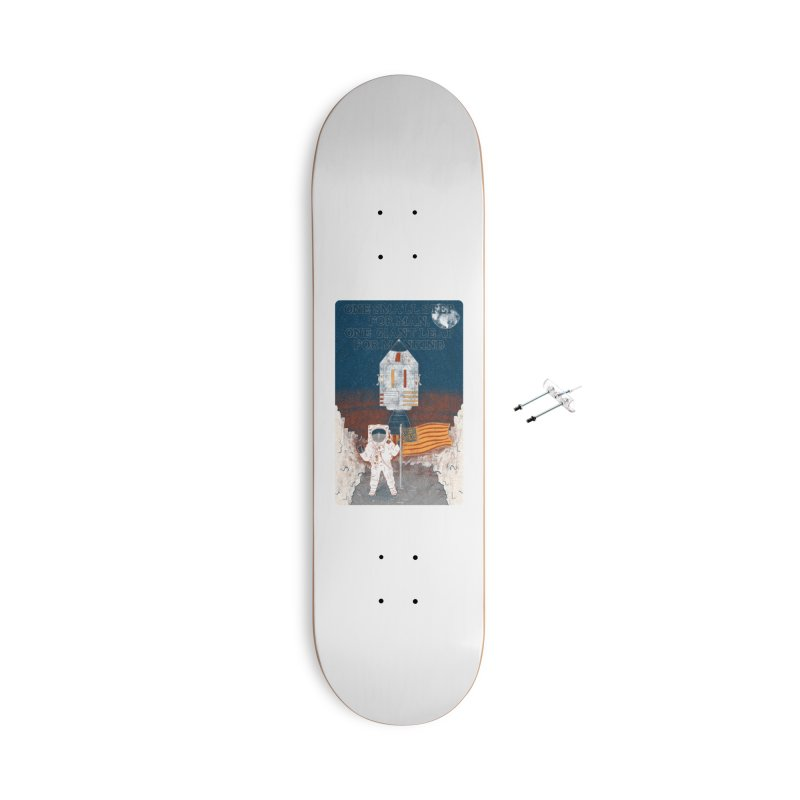 One Small Step Accessories With Hanging Hardware Skateboard by Krist Norsworthy Art & Design