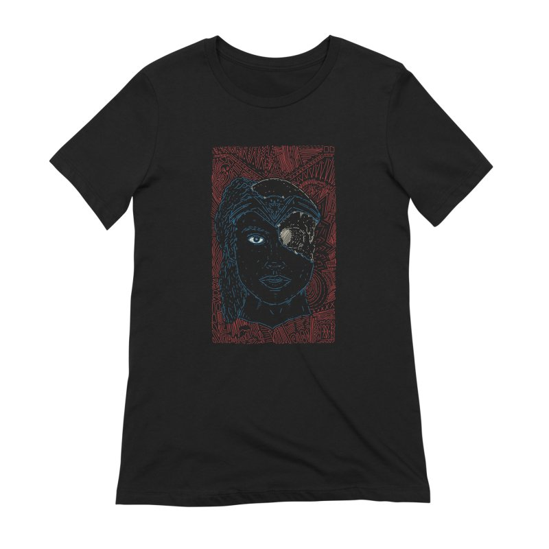 Amazonian Skull Women's Extra Soft T-Shirt by Krist Norsworthy Art & Design