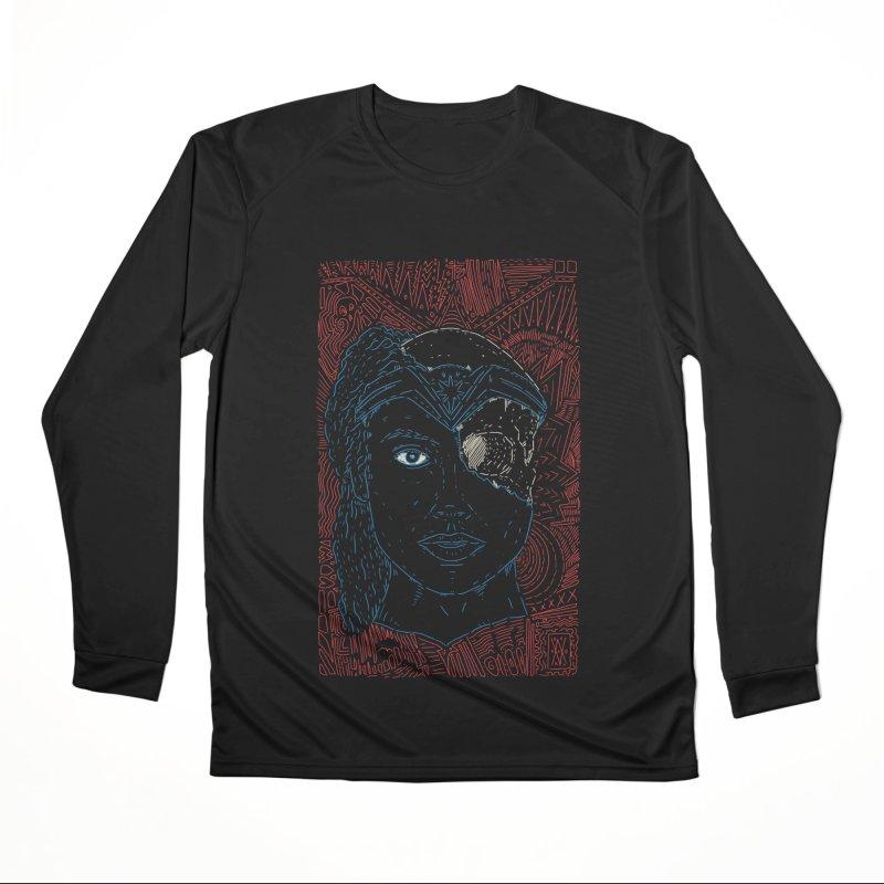 Amazonian Skull Women's Performance Unisex Longsleeve T-Shirt by Krist Norsworthy Art & Design