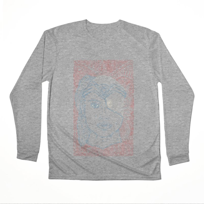 Amazonian Skull Men's Performance Longsleeve T-Shirt by Krist Norsworthy Art & Design