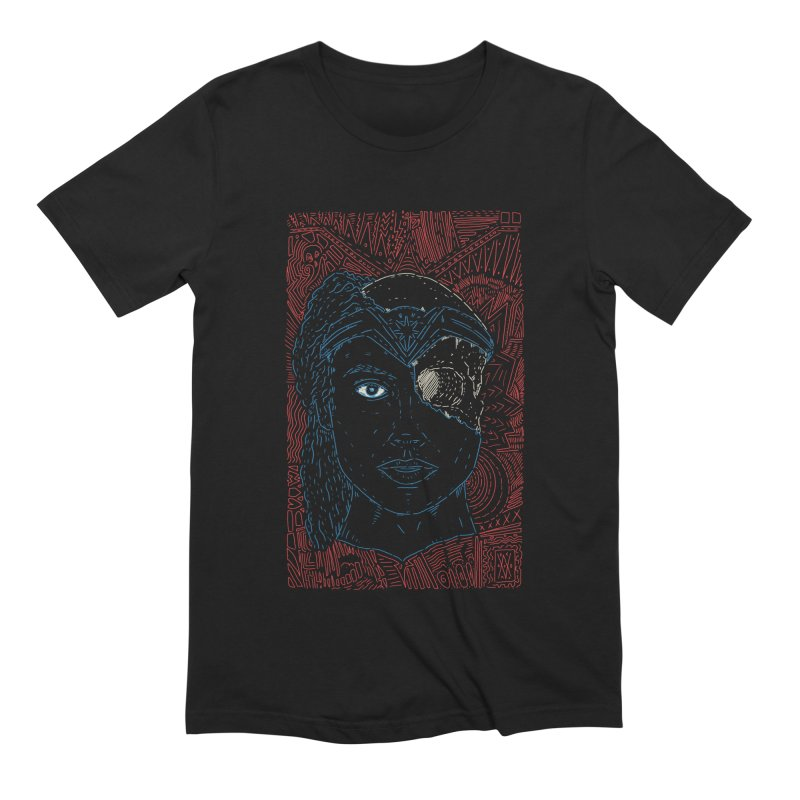 Amazonian Skull Men's Extra Soft T-Shirt by Krist Norsworthy Art & Design